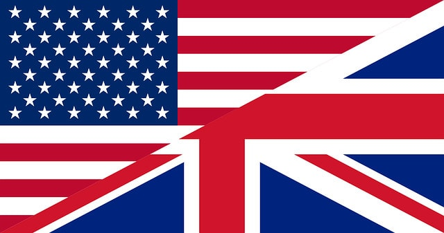american-and-british-flags